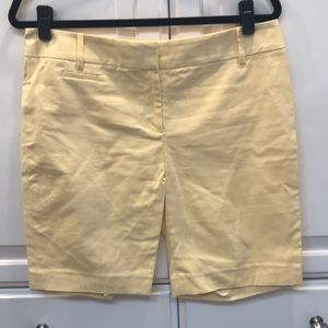 "LOFT - 10"" Inseams Pale Yellow Marisa Shorts"
